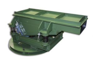 vibrator feeder, vibratory conveyor, electric vibratory conveyor, electric vibratory feeder, cleveland vibrator